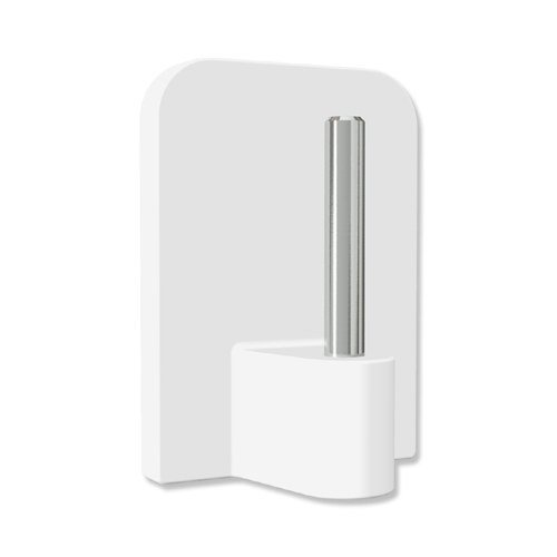 INTERDECO Klebehaken mit Metallstift, selbstklebend in Weiß für Vitragestangen (8 Stück)