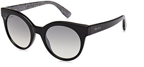 Jimmy Choo Damen MIRTA/S IC Q3M 49 Sonnenbrille, Schwarz (Bk Bkglitter/Grey Mesh SLV)