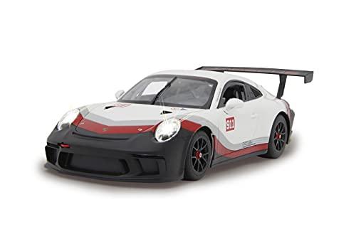 Jamara 405153-Porsche 911 GT3 Cup 1:14 blanc-Voiture RC, sous licence officielle, environ 1 heure de conduite, 9 Km/h, intérieur détaillé, finition de haute qualité, éclairage LED, 405153
