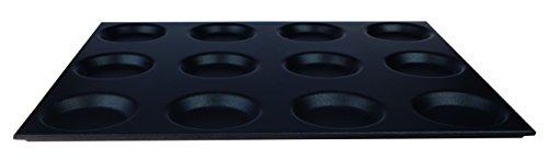 Pentole Agnelli cosa183/S12 Plaque Gastronorm Anti-adhésif 12 moules, Aluminium, 53 x 65 cm