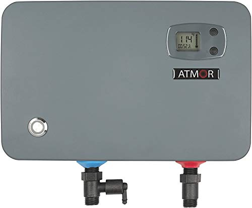 Atmor AT-905-11TB, Demand Self-Modulating Technology ThermoBoost 10.5kW/240V 1.7 GPM Electric Tankless Water Heater, 11kW/240V, Grey