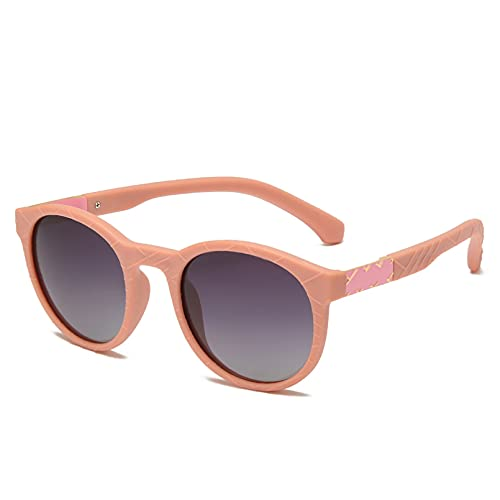 YTYASO Tr90Slasses Gafas de Sol Redondas Flexibles de conducción de Goma cuadradas para Hombres Gafas de Sol polarizadas para Mujeres y Hombres