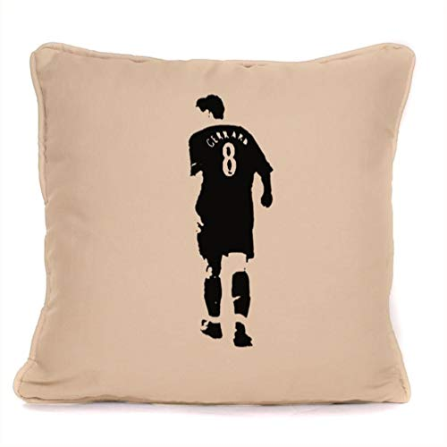 Steven Gerrard Liverpool Football Club Print Cushion With Pad Included | Best Throw Pillow Present Idea For LFC Fan |18 x 18 Inch