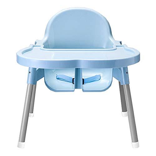 Wguili Kinderschreibtisch Multifunktions Klappstuhl Verstellbarer Sitzerhöhung Tragbarer Kinderhochstuhl Ideal zum Schreiben, Lesen und Zeichnen (Farbe : Blau, Größe : 46 * 47 * 39cm)