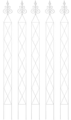 タカショー(Takasho) トレリス ローズスティック アジュール (ホワイト)5本 GSTR-J24SW/5S