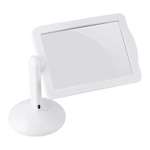 スタンドルーペ 拡大鏡LEDライト付き 360度回転 3倍拡大 EDルーペ ハンズフリー設計 読書・検査・修理・手芸・裁縫・趣味など細かい作業に