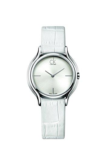 Calvin Klein Reloj Analógico para Mujer de Cuarzo con Correa en Cuero K2U231K6