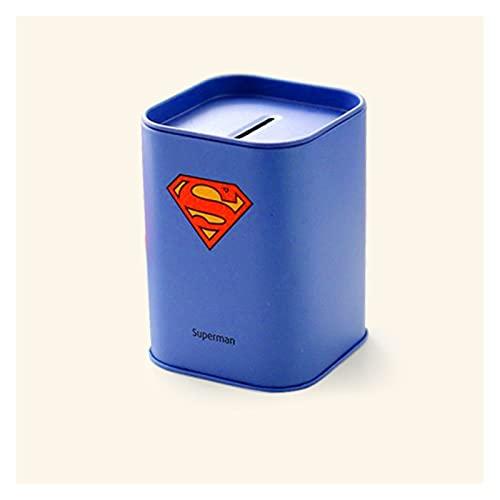 RuiXi 1 caja de almacenamiento de la serie de alcancía cuadrada personalizable, para ahorrar dinero, monedero, caja de joyería (color: azul)