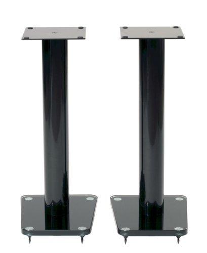 """TransDeco Speaker Stands, 24"""", Black -"""