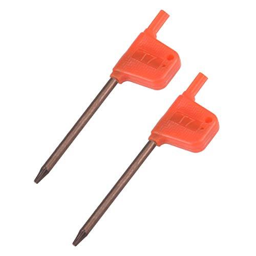 Destornillador Star socket, T7 S2, mango de bandera, estrella, llave, llave, llave inglesa, 2 piezas