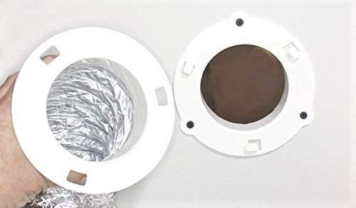 "4"" Clothes Dryer Dock Quick Connect Vent White 5000-1 6"" Overall Gxfc"