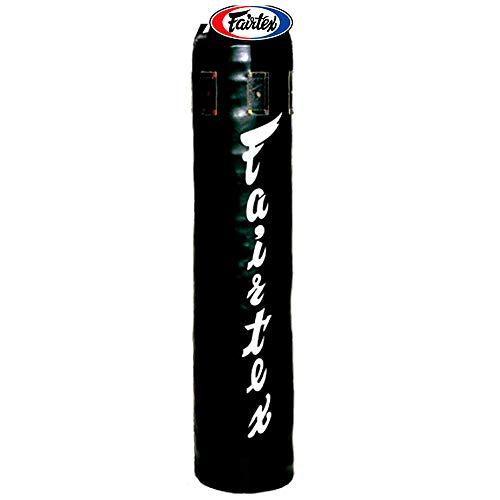 Fairtex HB5 Syntek Heavy Bag Muay Thai MMA Kickboxen 122 cm, ungefüllt, Schwarz