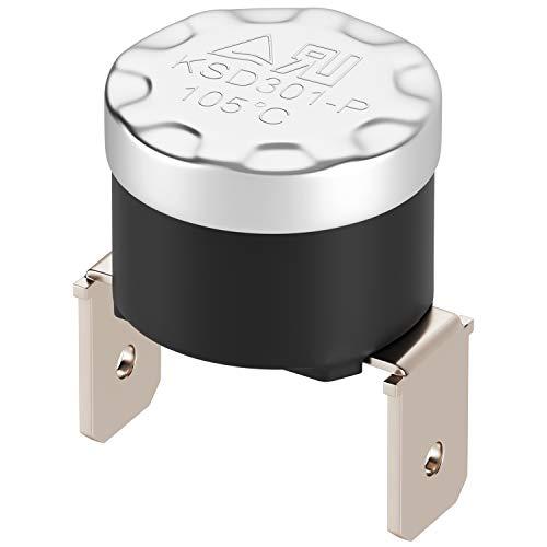 Fester Auslöser N.C. 105°С Klixon vertikale Fastons Thermostat mit festem Gang Temperaturschalter Thermal Control für Haushaltsgeräte