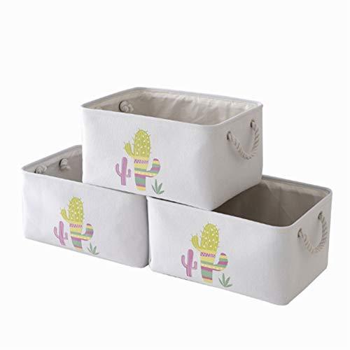 Aitaolian HOMEsn Zusammenklappbare Aufbewahrungsbox Containerbins Mit Griff 3 Pack Große Leinenstoff Lagerung Organisatoren Für Büro, Schlafzimmer, Schrank, Spielzeug