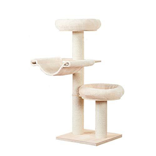 wujiancheng Spielen Sie Towers & Bäume für Katzen Großes Kratzbaum Massivholz Katze Klettergerüst Massivholz-Katze-Sänfte Katze Scratcher Katzenspielzeug Katzenspielzeug Katzenbedarf für Cat