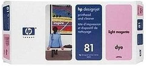 Hewlett Packard C4955A OEM Wide Format Ink - HP 81 Light Magenta Dye Printhead/Printhead Cleaner (Ink Not Included)