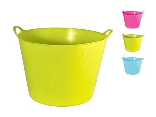 Flexi Korb Wäschekorb Einkaufskorb Aufbewahrung Multikorb lemon,pink,blau 27 Liter