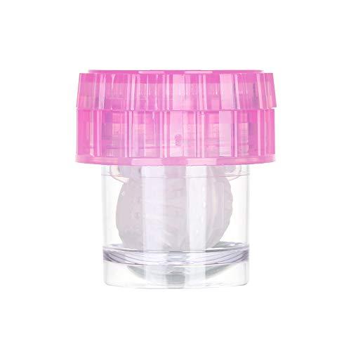 Fashion Manuell drehbare Reisebehälter für Kontaktlinsen, Kontaktlinsenbehälter, Gläser reinigen Gr. A, rose