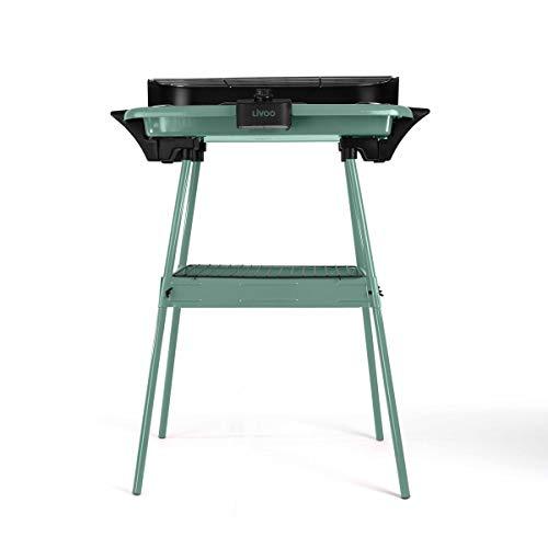 Livoo - Barbacoa eléctrica con patas DOM297 Verde