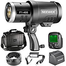 Neewer 400W 2.4G HSS Dual TTL(i-TTL and e-TTL) Outdoor Flash Strobe Light for Canon and Nikon, with 2.4G Wireless Trigger and Rechargeable Li-ion Battery (350 Full Power Flashes) Bowens Mount F1-400