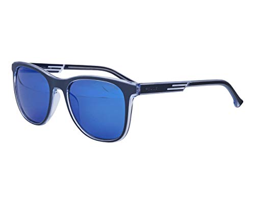 Police Unisex Offset 1 Sonnenbrille, Crystal Smoked-Dark Blue, 54