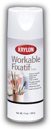 Krylon Fixative Aerosol Spray Provides Lasting Protection for Pencil, Pastel and Chalk Drawings But Can Be Erased to Rework Your Art (Pkg/4)