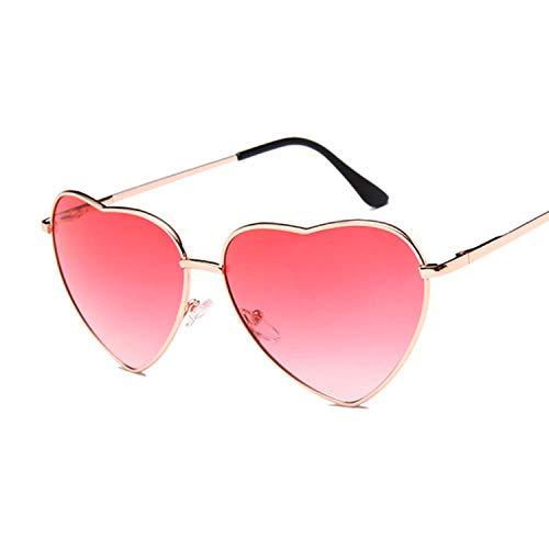 Heart Mirror Occhiali da Sole Donna Cat Eye Occhiali da Sole Donna Retro Amore Occhiali a Forma di Cuore Doppi