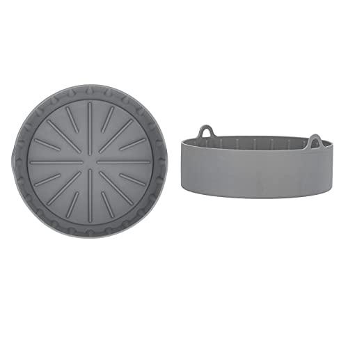 Olla de la freidora, olla de silicona de la freidora de los utensilios de cocina para la freidora grande(Round large/385g)