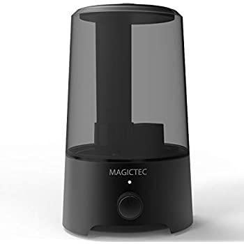Magictec Cool Mist Humidifier, 2.5L Bedroom Essential Humidifier Diffuser, Baby Humidifier with Adjustable Mist Output, Auto Shut Off, Super Quiet 360° Nozzle- Lasts Up to 24 Hours