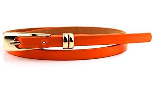 Sucre Belts Damen Gürtel mit Schnalle Gürtel Orange Orange
