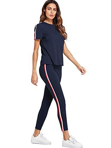 Shocknshop Blue Striped Red White Side Short Sleeve Top &...