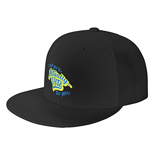 I Need You to Actually Vote This Year Black Baseball Cap Flat Hat Pop It Adjustable Fashion Hats Make The