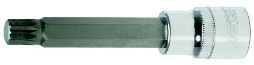 """KS Tools 918.1695 - Llave de vaso con punta para tornillos XZN (1/2\"""", larga, cromada, M12)"""