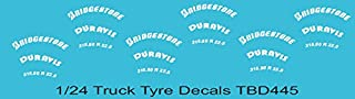 1/24 Bridgestone Tire Decals for Trucks Tyre Pneumatici Lorry TB Decal TBD445