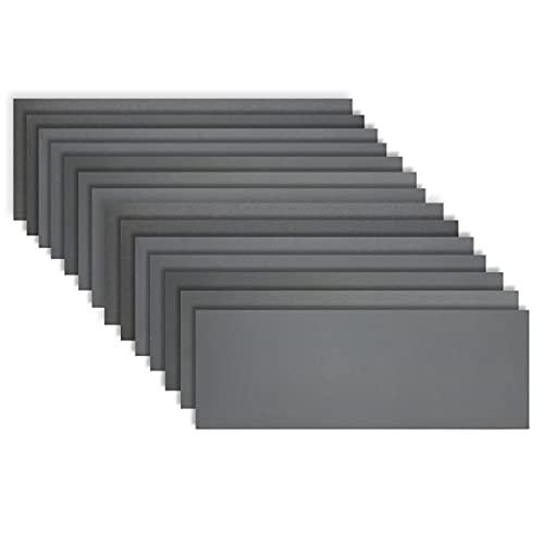 KITEOAGE 14 Papier de Verre 9x3.6 inch Papier a Poncer a l'eau 400/600/800/1000/1200/1500/2000 Papier Abrasif Carrosserie Bois Peinture Verre