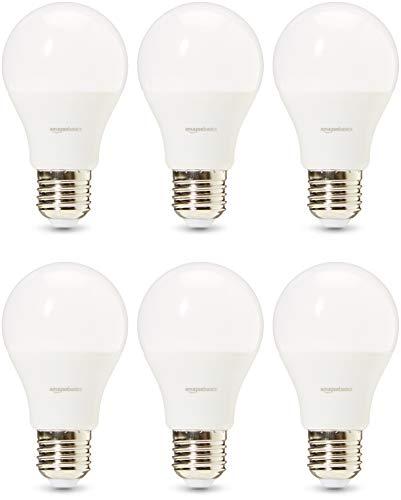 Amazon Basics Professional - LED-Leuchtmittel, Edison-Schraubgewinde (E27), entspricht 40-Watt-Birne, Kaltweiß, 6 Stück