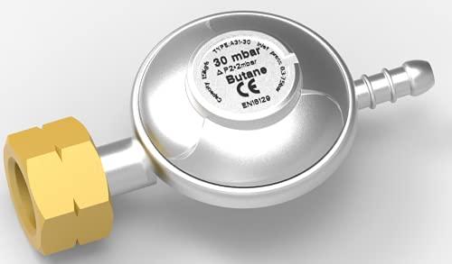 N\C Regulador de gas butano 30 mbar tipo de tornillo para calor cilindro de 4,5 kg