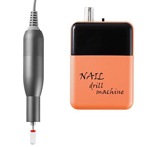 Torno de Uñas Profesional Lima de uñas eléctrica Acrílico o Gel para Manicura y Pedicura 30000 rpm fresado de uñas de gran potencia, elimina callos, Manicura casera,Naranja
