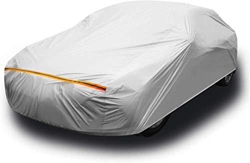 Ohuhu Autoabdeckung Car Cover, Auto Abdeckplane Limousine Autoabdeckung, Winddicht, Staubdicht, Kratzfest, UV-Schutz, für 450-495cm Sänfte Limousine