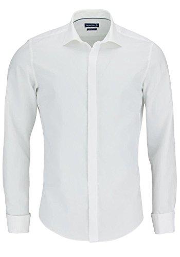 Jacques Britt Herren Slim Fit Business Hemd John Uma (Vl) T.98, Gr. Kragenweite: 40 cm (Herstellergröße: 40/M), Elfenbein (creme 2)