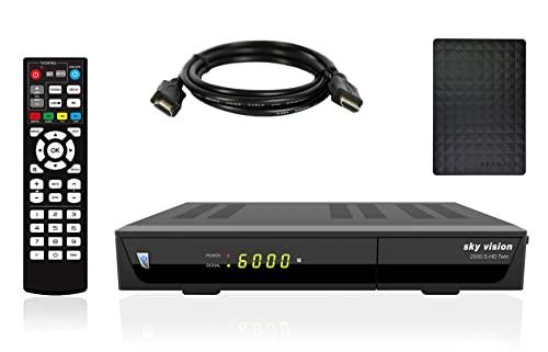 Sky Vision 2000 HD Digitaler Satelliten Receiver mit Twin Tuner + inkl. 1TB Festplatte zum aufnehmen (Full HD 1080p, USB 2.0, DVB-S2, HDMI)