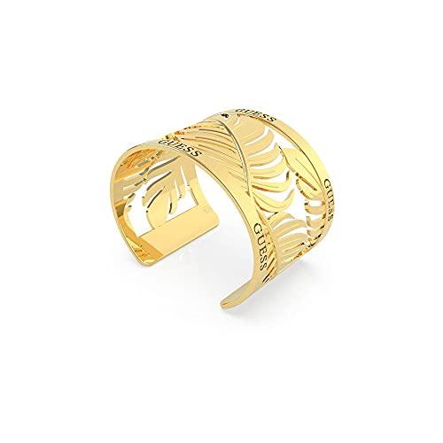 Guess Jewellery Tropical Summer 40mm Hojas Open Gold Brazalete UBB70131-L