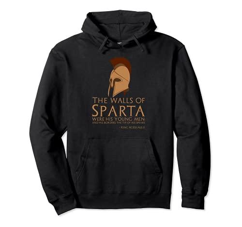 Rey Agesilaus II - Cita espartana antigua - Motivacional Sudadera con Capucha