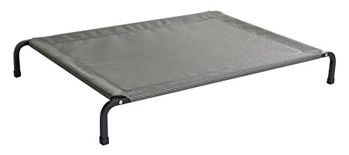 Fiksu Pets Heavy Duty Elevated Pet Bed (Medium) With Extremely Durable, Breathable, Tear Resistant, Mesh Cover with Steel Square Tube Frame