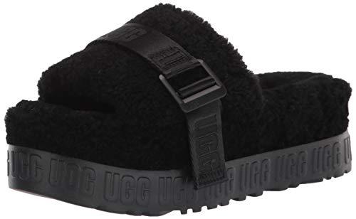 UGG Fluffita Slipper, Black, Size 10