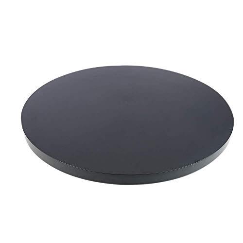 PrimeMatik - Base giratoria eléctrica de 60 cm. Plataforma Rotatoria de Color Negro