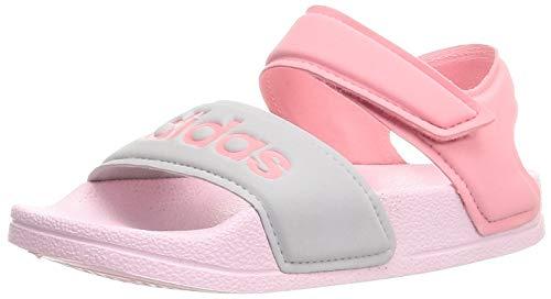 adidas Adilette Sandal K Gymnastikschuh, Clear Pink Super Pop Silver Met, 33 EU