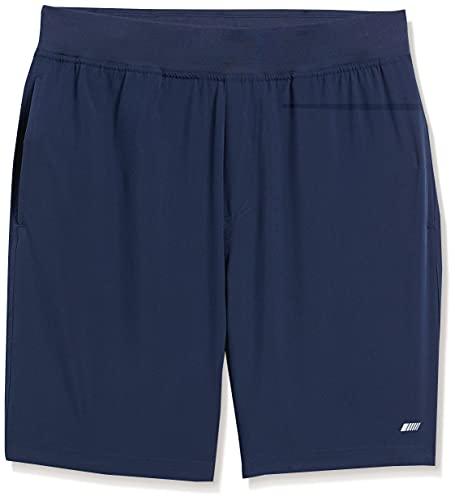 Amazon Essentials - Pantalones cortos elásticos tejidos de deporte para hombre, Marino, US XXL (EU XXXL - 4XL)