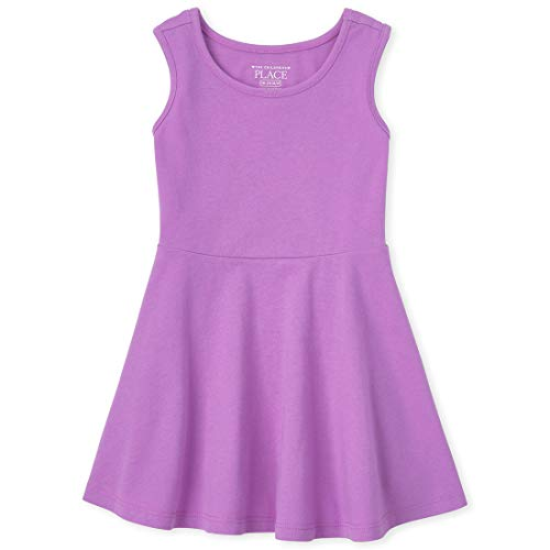 The Children's Place Baby Girls' Basic Pleated Dress, Dynamic Lilac, 2T