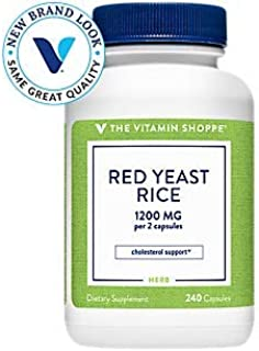 Red Yeast Rice 1200mg, Supports Cholesterol Cardiovascular Health Supports a Healthy Heart, Gluten Free, Dairy Free (240 C...
